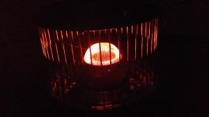 Fotogenvärmare en kall vinterkväll
